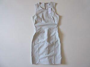 NWT Helmut Lang Compress Twill in Prism Gray Cutout Back Sheath Dress 6 $425