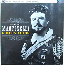 GIOVANNI MARTINELLI rare signed autographed LP RCA Golden Years cdn-1030