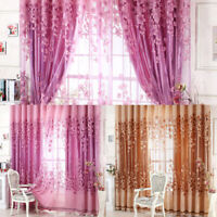 Floral Half Shading Curtain Window Treatment Art for Living Room Bedroom Decor