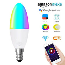 Wifi Smart LED Light Bulb 6W RGB Dimmable for Alexa/Google Home Voice Control###