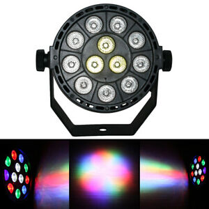 12 LED RGB LED PAR CAN Stage DMX Lighting RGB DJ Disco Party Wedding Uplighting