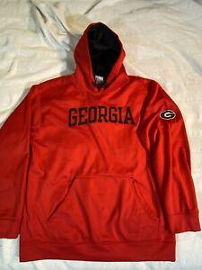 Vintage Georgia Bulldogs Knights Apparel Embroidered Sweatshirt Hoodie Large