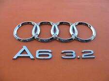 05 06 07 08 09 10 11 AUDI A6 3.2 REAR TRUNK LID CHROME EMBLEM LOGO BADGE SIGN #3