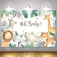 Safari Animals Baby Shower Backdrop Jungle Photography Background Party Decor
