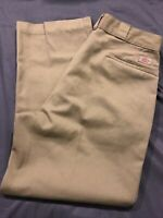 Vintage usa made DICKIES work pants (36 x 29 tag) khaki tan talon zipper