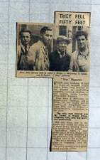 1949 50 Feet Scaffolding Crash Stepney J Hillier, J Mccarthy, S Sykes, J Taylor