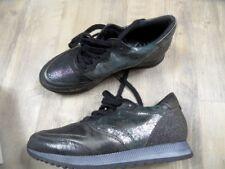 MJUS stylische Glitzer Sneakers grau bunt Gr. 37 NEU ZC1217