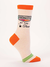 Blue Q Women's Crew Novelty Socks, Ringmaster of the S*** Show - Orange (OSFA)