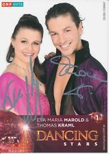Maria Marold & Thomas Kraml   Dancing Stars ORF Autogrammkarte signiert 377839