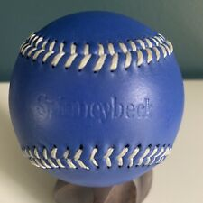 New ListingVintage Spinneybeck Leather Collectible Baseball Royal Blue w/ White Stitching