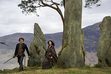 12x18 Panoramic Outlander Claire Randall Jamie at the Stones Photo Print