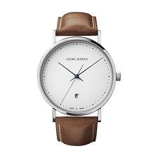 Georg Jensen Watch w/ White Dial & Brown Leather Strap - Koppel K41-ST02