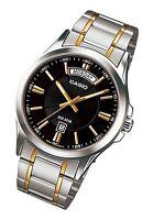 MTP-1381G-1A Black Casio Men's Watches Casio Analog Steel Band