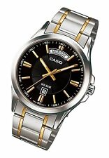 MTP-1381G-1A Black Casio Men's Watches Casio Analog Steel Band