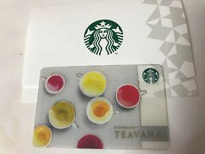 Japan Starbucks Teavana Card 2016 - Pin Intact