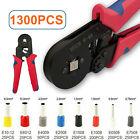 1300 teilig Set Crimpzange Aderendhülsenzange Presszange 0,25-10mm² Kabelschuhe