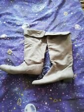 Grey Faux Suede Boots 6 By Primark