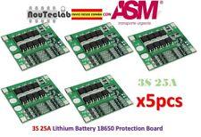5pcs 3S 25A Li-ion 18650 BMS PCM Battery Protection Board with Balance BMS PCM