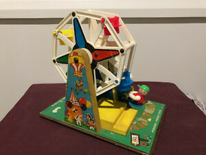 Vintage Fisher Price 969 WIND-UP MUSICAL FERRIS WHEEL - Works well - pre-owned