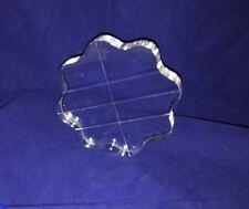 "Qty: 2 Size: 3.5"" Flower Round Shape Acrylic Stamping Blocks"