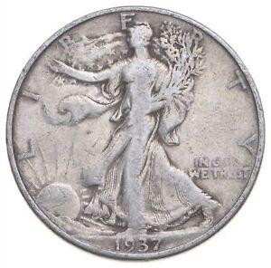 1937-D Walking Liberty 90% Silver US Half Dollar *936