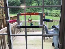 Pet Bird Parrot Suction Cup Shower Perch Or Portable bird play gym