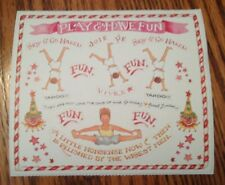 SUSAN BRANCH STICKERS PLAY AND HAVE FUN! CARTWHEELS