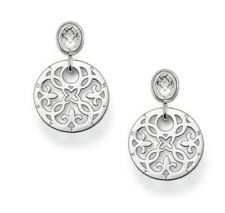 NEW  Genuine Authentic THOMAS SABO - Arabesque Disk and Clear CZ Earrings