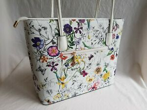 Beautiful House Of Milano white floral Tote Bag - NEW, unwanted gift.