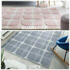 ZEST MESH HAND TUFTED SOFT GEOMETRIC QUALITY RUG IN BLUSH PIN & GREY