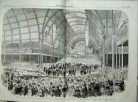 Old Antique Print 1857 Art Painting Exhibition Manchester Prince Albert 19th