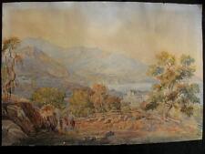 Gagriel maman II; 1784-1846?; suisse Berne; paysage sur le lac; palais; 1830