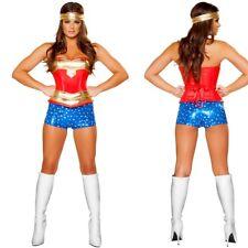 Women's Complete Costumes Strapless Corset Short Heroine Hottie Wonder Woman