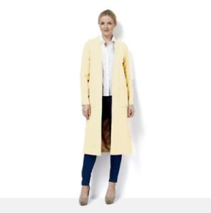 Cream Helene Berman Edge To Edge Longline Throw On Coat - size 22 and New