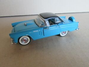 472G Franklin Mint Ford Thunderbird 1956 Cabriolet Closed T Bird Turquoise 1:43