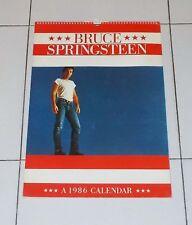 Calendario BRUCE SPRINGSTEEN A 1986 Calendar OTTIMO