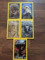 National Geographic Magazine Lot 5 YEAR 2002/2003  MAY, JUL, OCT, DEC, JULY 2003
