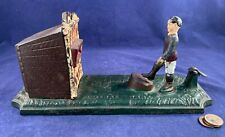 Antique Vintage Cast Iron (CI) Mechanical Bank - Football Bank ORIGINAL RARE