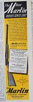 1945 Vintage MARLIN Model 39-A .22 Rifle Gun Color Original Ad