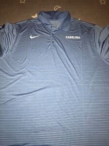 Nike Dri Fit Performance Stripped North Carolina Tar Heels Polo Golf Shirt XXL