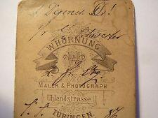 Tübingen - Corps Suevia - Adolf Degener - 1886 Soldat Pickelhaube CDV Studentika