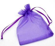 500 pcs Sachets Organza Violet foncé Cadeau 12x9cm