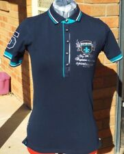 Horka Verona Polo Top - Navy with Turquoise - Size Small **SALE**