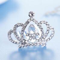 For Girls Kids Gift Love Heart Crystal Rhinestone Tiara Crown Hair Comb
