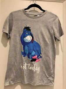 Ladies Primark Disney Winnie the Pooh Eeyore T-Shirt