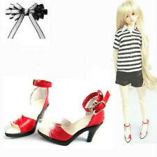 1/3 SDGR BJD Dollfie Shoes High Heels Sandals Feather Deco Silvery/Red/White DOD