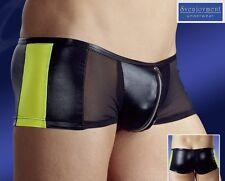 Svenjoy. Wetlook Netz Push-Up Herren Hipster Pants Front-Zip Ultraweich in S