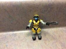 Halo Mega Bloks Series 8 Unsc Gold Spartan Air Assault w Grenade Launcher (Rare)