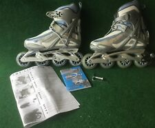 Rollerblade Wing Abt Fitness Skates - Women's 8 - Blue and gray Euc