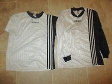 Lot 2 maillot ADIDAS vintage blanc noir couleur SCO ANGERS shirt trikot maglia